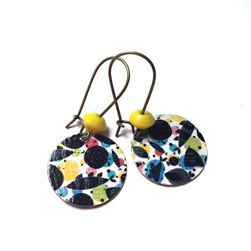 Boucles d'oreilles sequins et motif *emma*