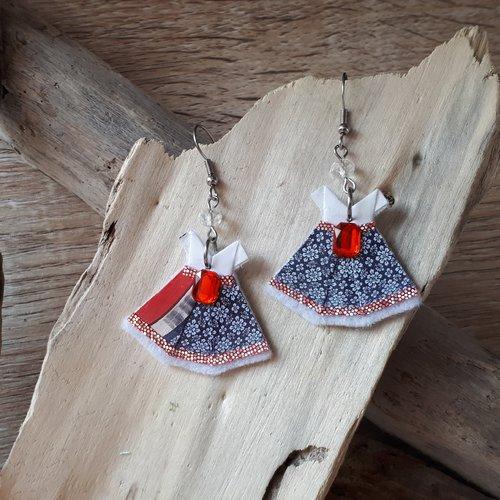 """Boucles d'oreilles """"petite robe printanière"""""""