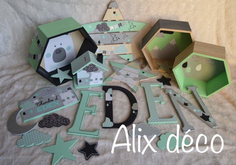 Boîte à souvenirs, boîte en bois, cadeau naissance, cadeau baptême, boîte à trésors, décoration ours polaire (su