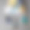 Collier caméléon, couleurs froides sequins émaillés réversibles