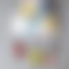 Collier caméléon, couleurs chaudes sequins émaillés réversibles