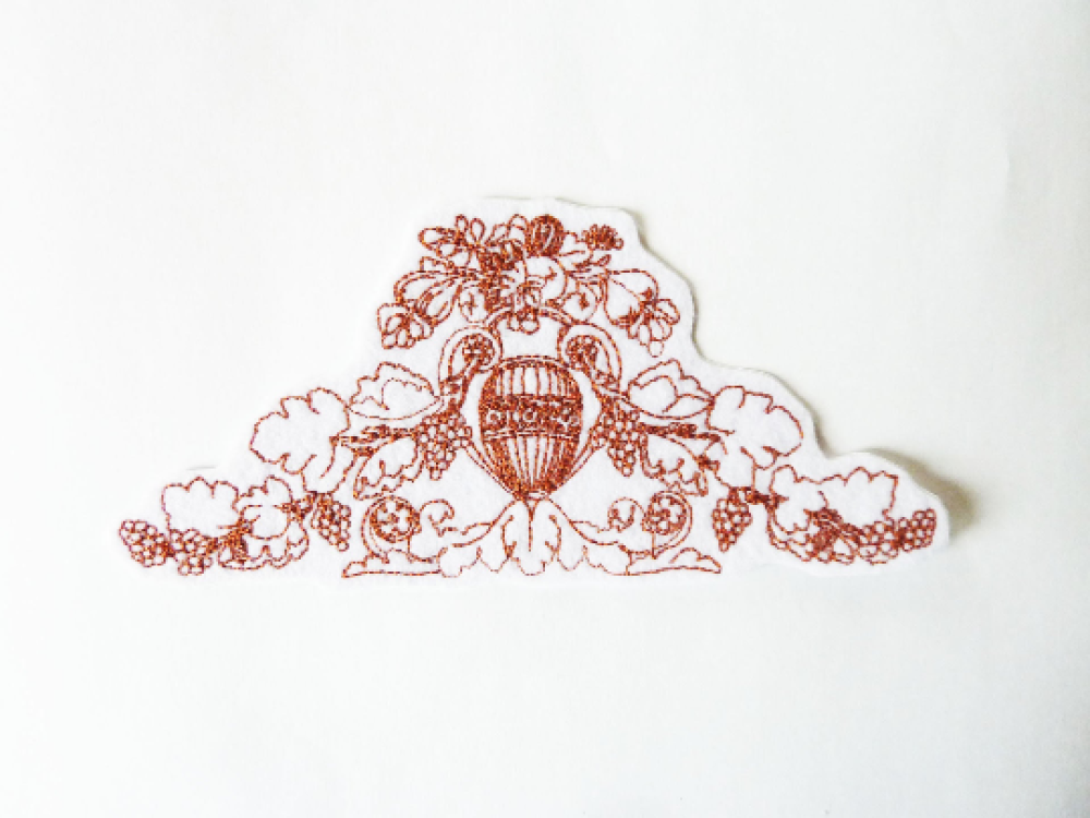 Broderie dessin Grèce antique, embroidery patch
