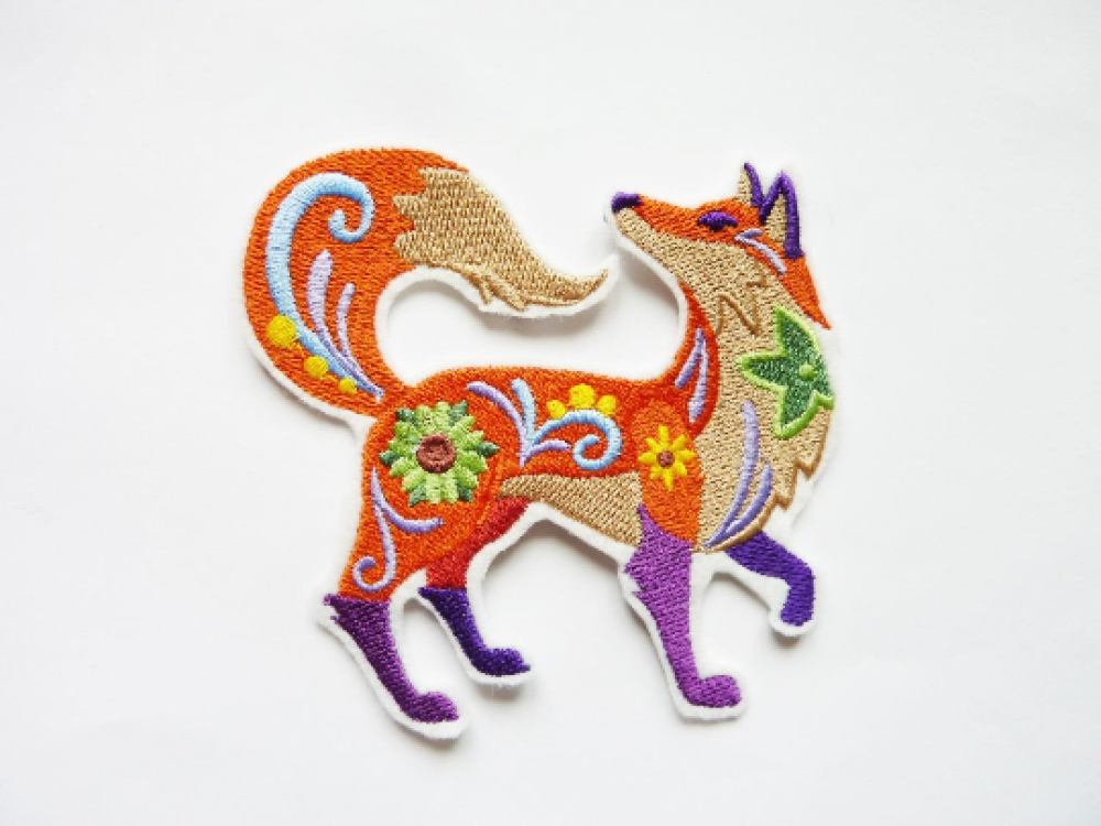 Renard brodé,embroidery patch (Fox)