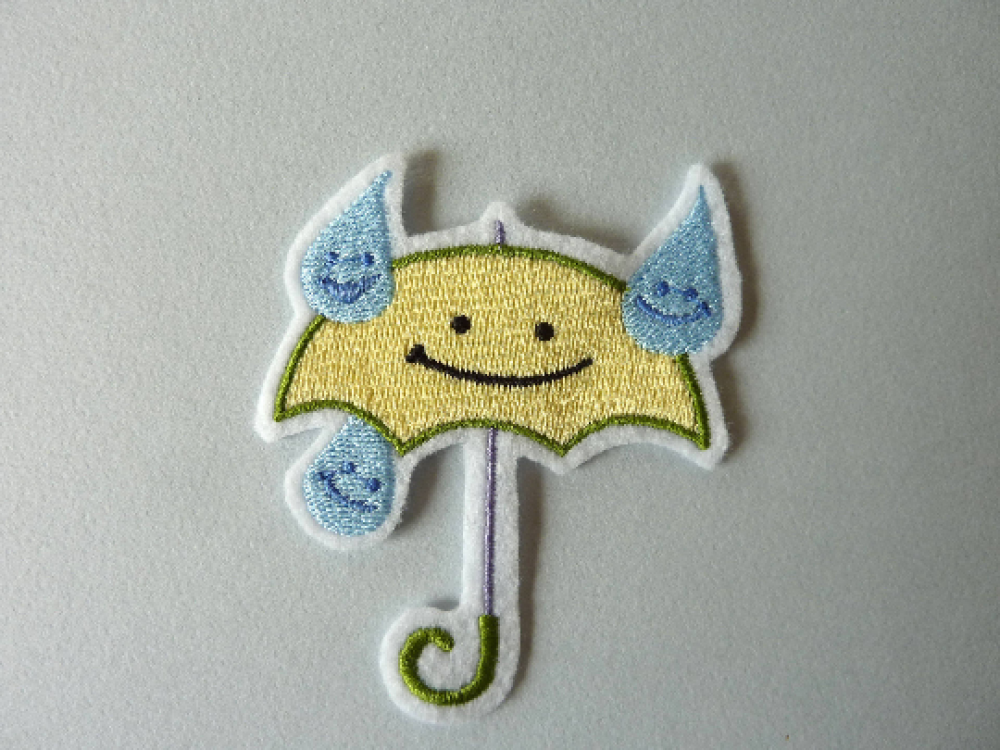 Broderie enfant parapluie, patch thermocollant,ecusson,customisation,embroidery patch
