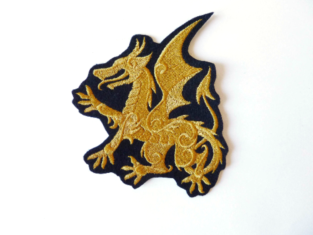 Patch dragon,patch thermocollant,embroidery patch,ecusson dragon,broderie machine