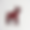 Ecusson silhouette d'un danois (chien)