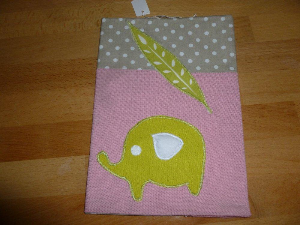 corbeille bébé tissu étoilé imprimé d'éléphants,trio de corbeilles(éléphants et étoiles)