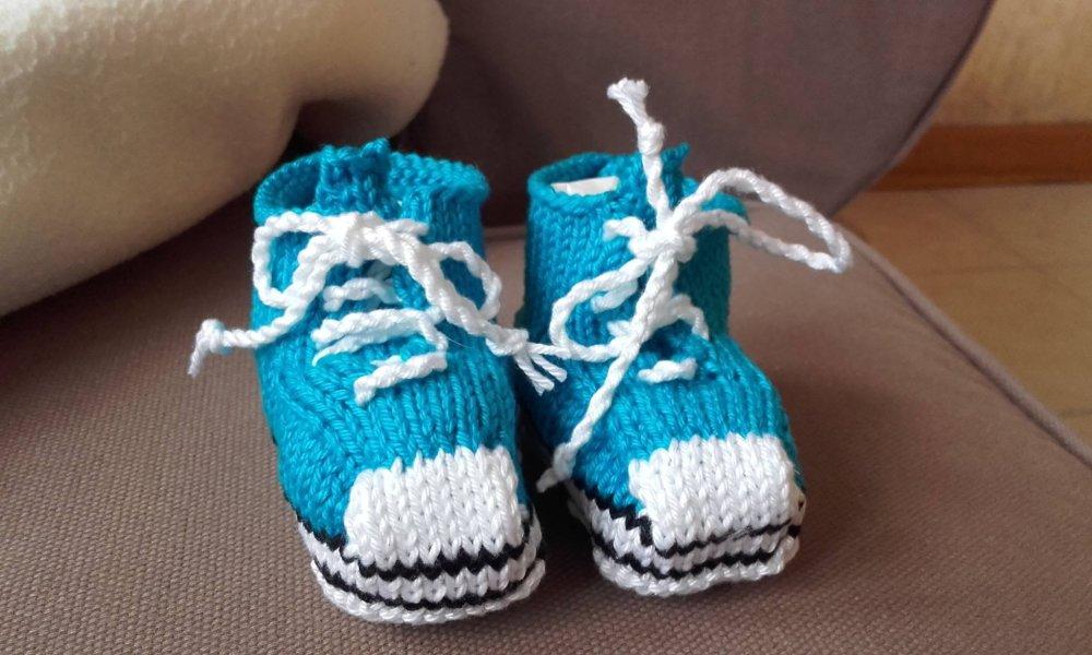 Baskets bébé coton