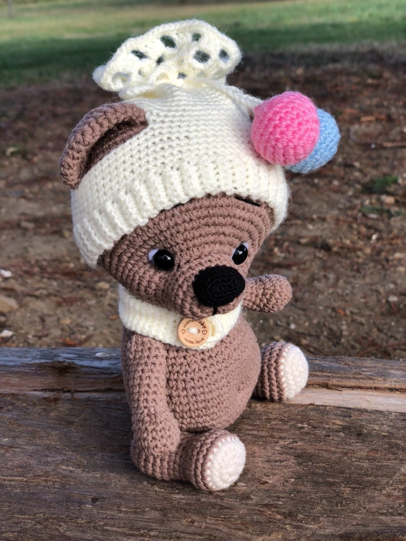 Crochet Bear PATTERN - Amigurumi Crochet Toy Pattern - Lucas the ... | 1332x1000