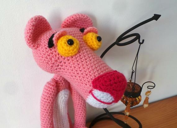 Panthère rose, Amigurumi, Peluche au crochet