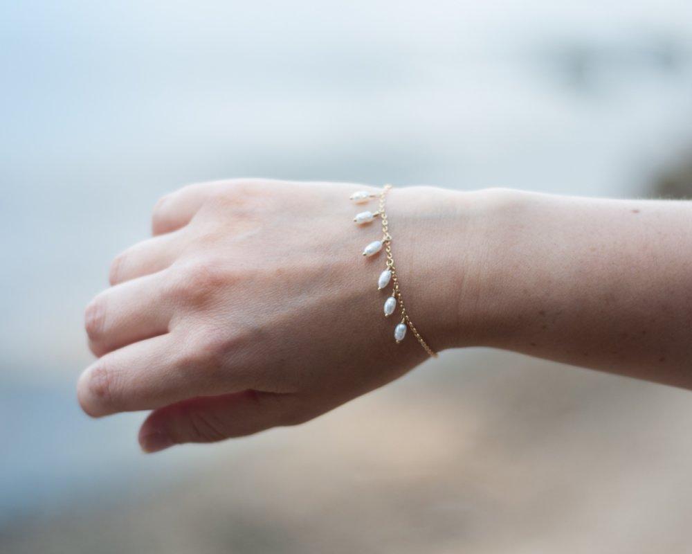 """Bracelet  Meline """"Perle d'eau douce"""" Bracelet lithothérapie"""