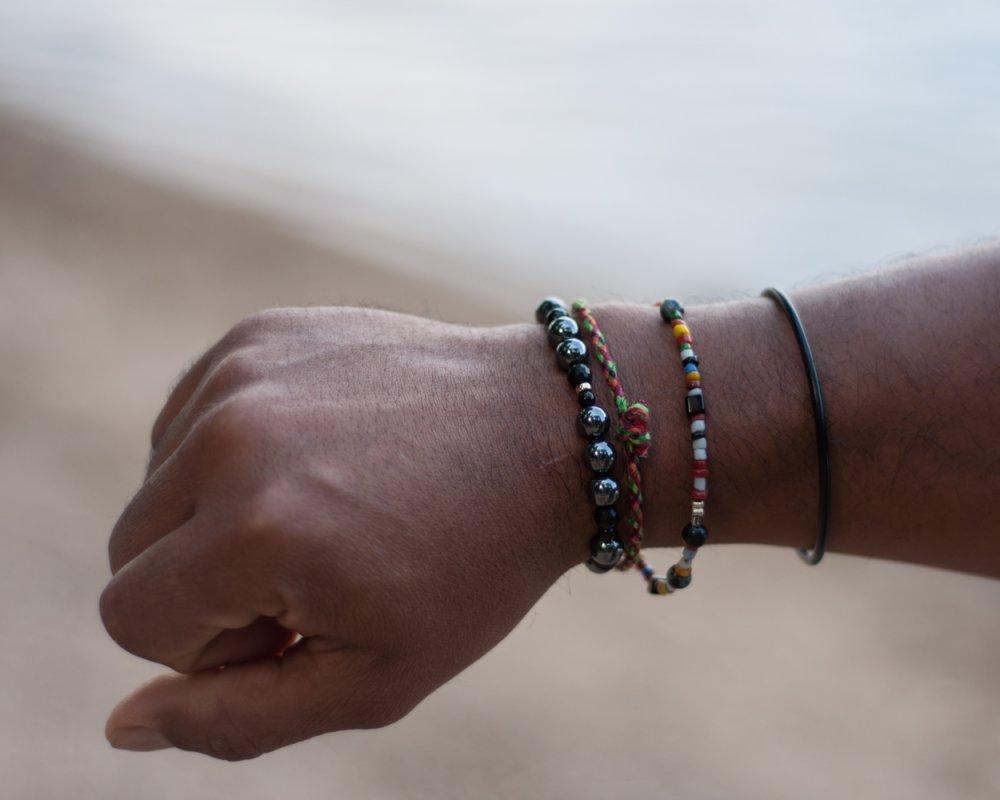 Bracelet de Communication et Confiance en Soi, Hématite, Bracelet lithothérapie