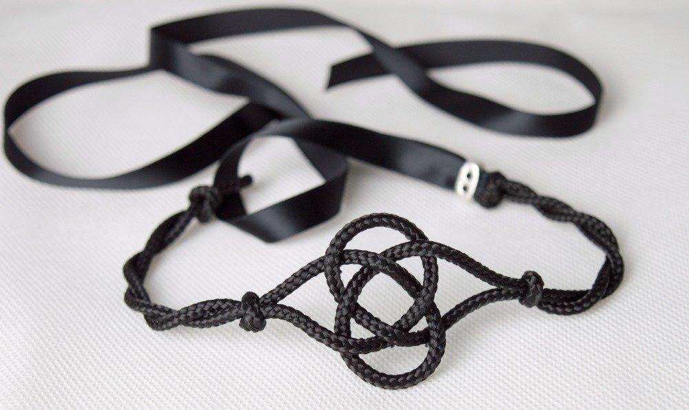 collier femme corde