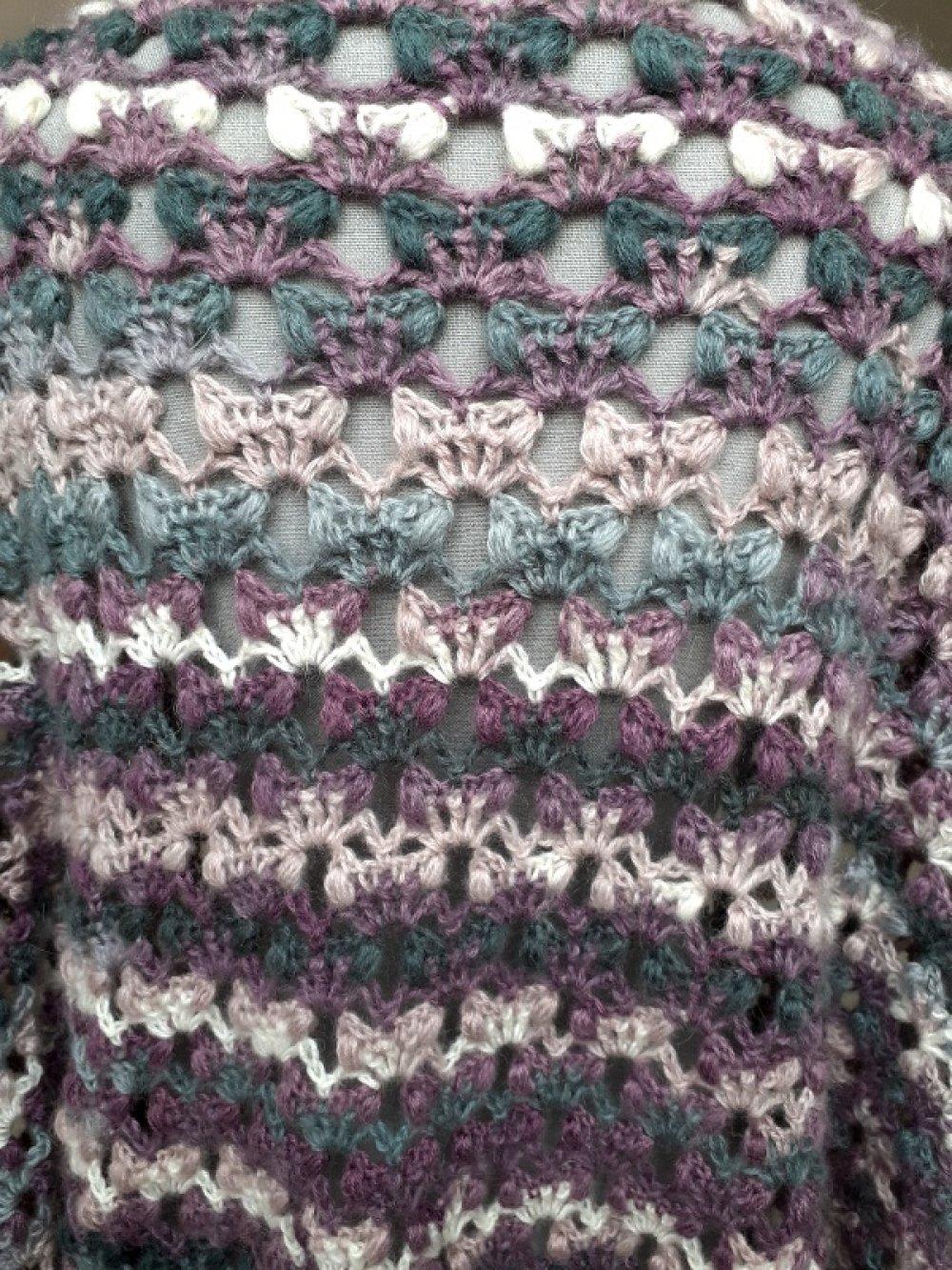 Chale oversize crocheté main