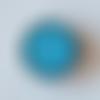 Bouton pression snap 18mm abstrait bleu et blanc.
