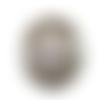 Bouton pression snap à cabochon 18mm abstrait à spirales noires