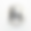Bouton pression snap à cabochon 18mm silhouettes chien, chat et souris en noir et blanc