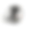 Bouton pression snap à cabochon de verre de 18mm abstrait danseuse de hip hop
