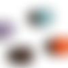 Bouton pression snap 18mm lot de 4 boutons: bleu, marron, orange et mauve
