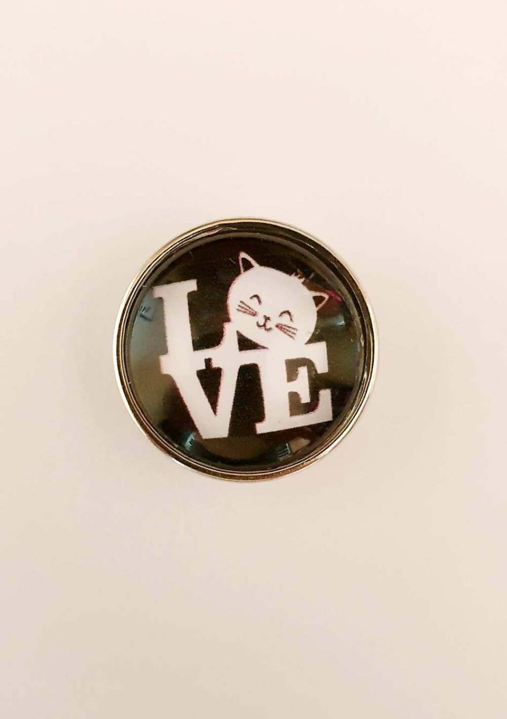 bouton pression SNAP 18MM LOVE CHAT