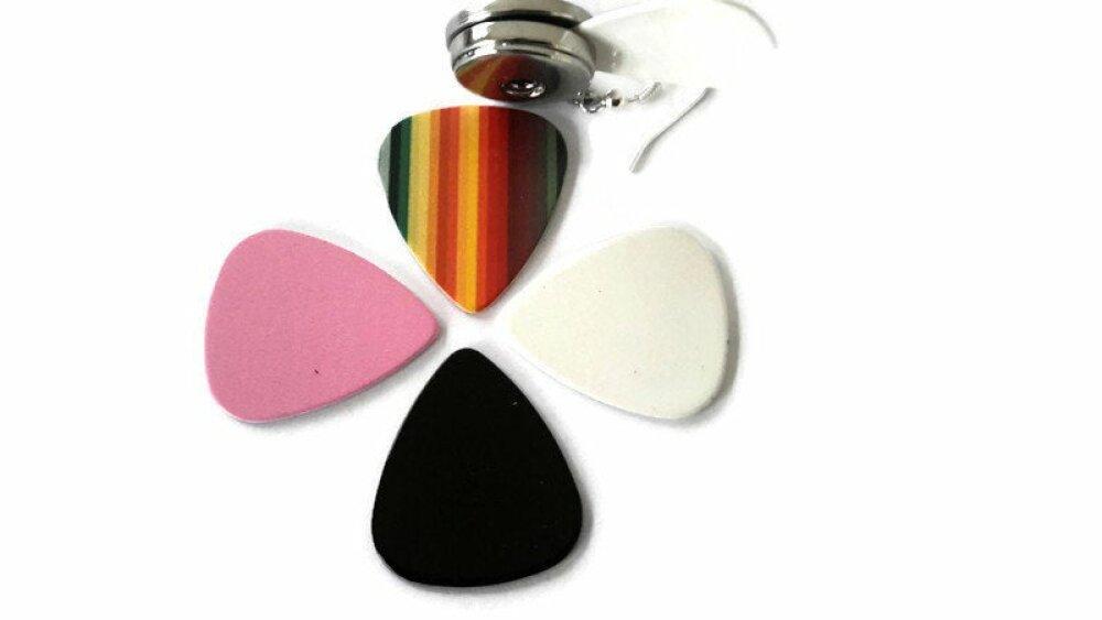 Retire bouton pression blanc,  rose, noir ou multicolore