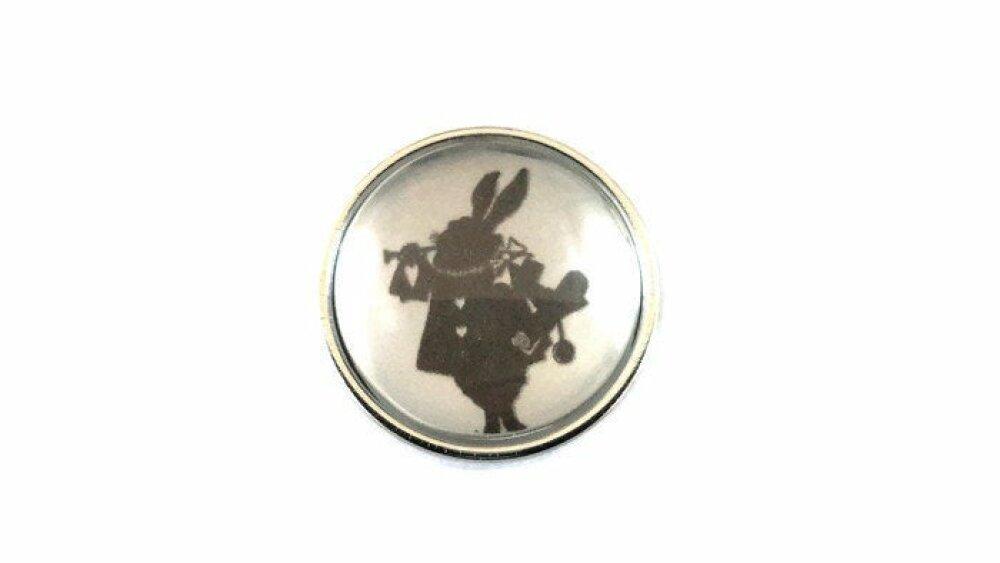 bouton pression snap  18mm silhouette de lapin