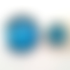 Bouton pression snap 18mm et 12mm à paillettes bleues/blanches/argentées