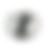 Bouton pression snap à cabochon de verre de 18mm abstrait danseur de hip hop