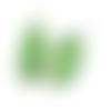 Boucles d ´oreilles à cabochon ovale en pierre naturelle couleur vert menthe