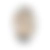 Bouton pression snap à cabochon de  verre 18mm petite fille manga aux cheveux blonds