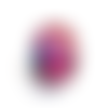 Bouton pression snap 18mm abstrait multicolore