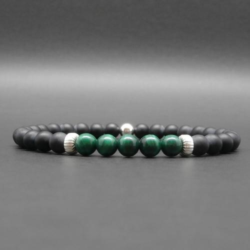 Bracelet Malachite et Onyx Noir
