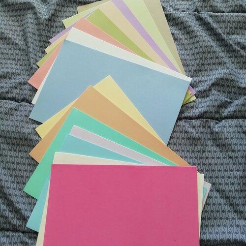 Plaques mousses pastel - travaux manuels