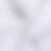 Nid d'abeille recto-verso oeko-tex - coloris blanc / 50 cm
