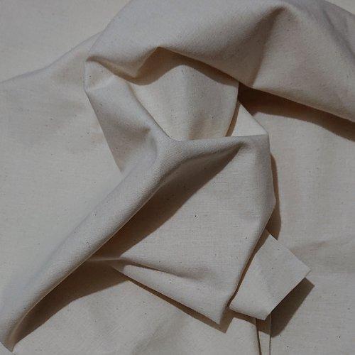 Tissu cretonne 80% coton 20% lin colombine-grisé / 50 cm