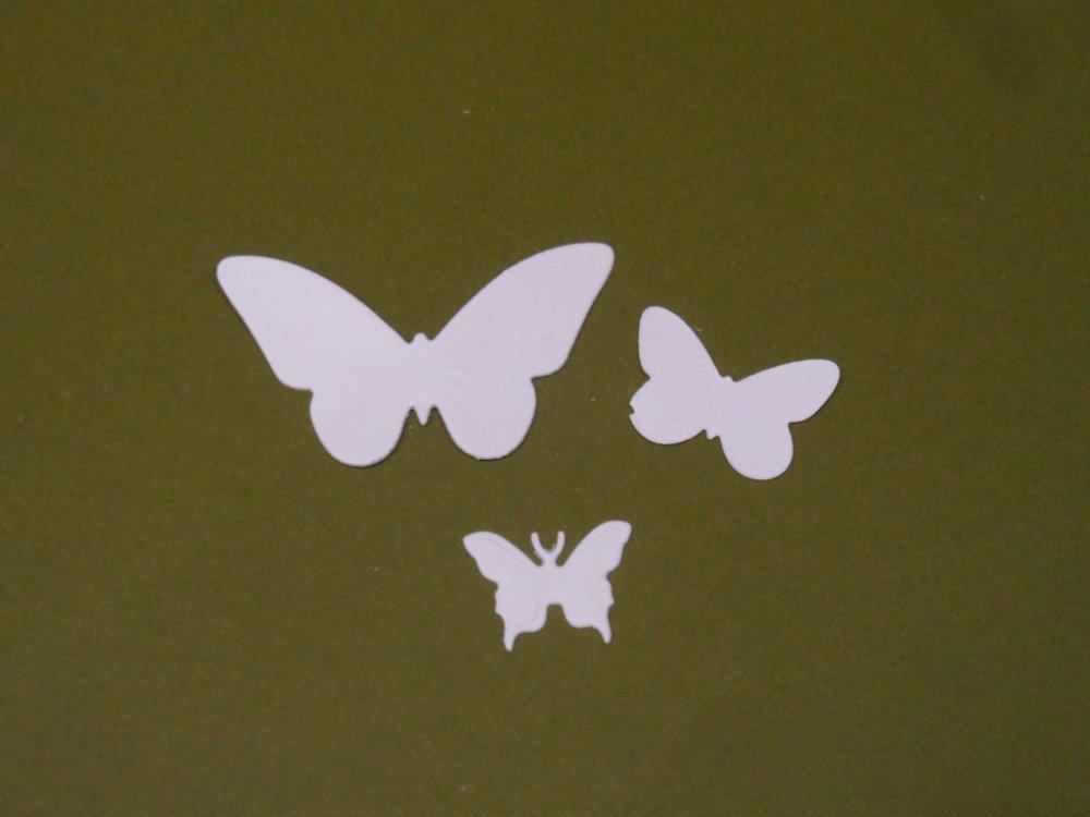 Découpe Papillons , pour vos cartes , vos pages de scrapbooking ou autres créations.