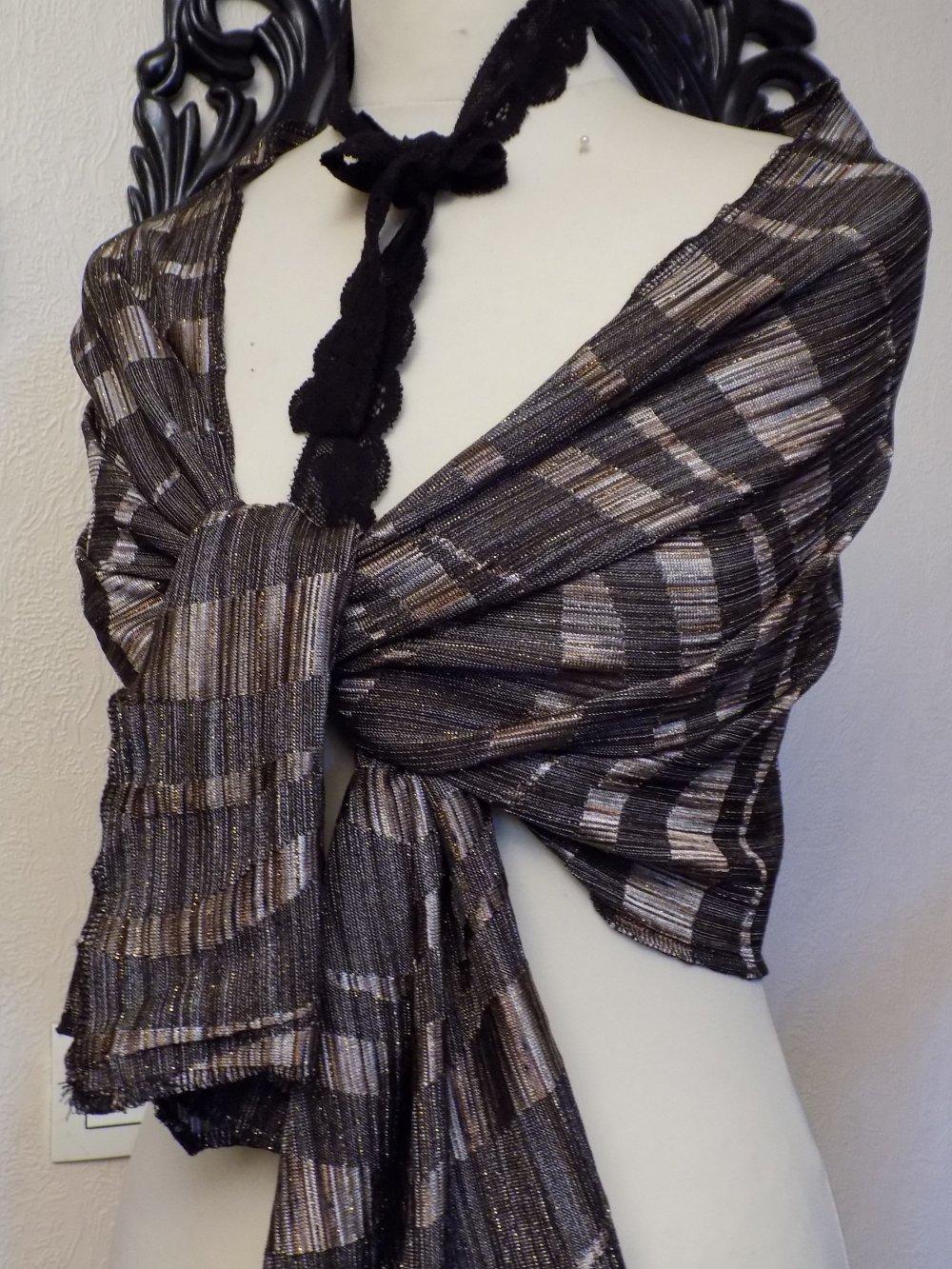 Écharpe femme,de couleur bronze,écharpe femme,écharpe fille