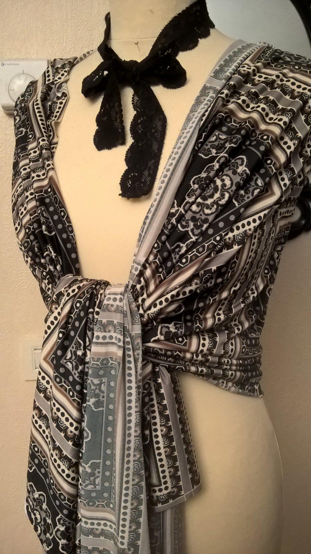 Étole en tissu,de polyester imprimé,écharpe femme,