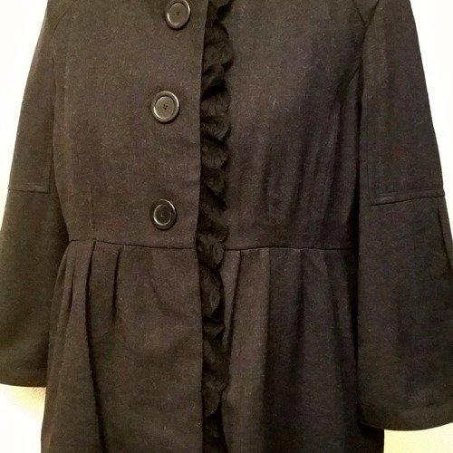 manteau trois quart en laine femme