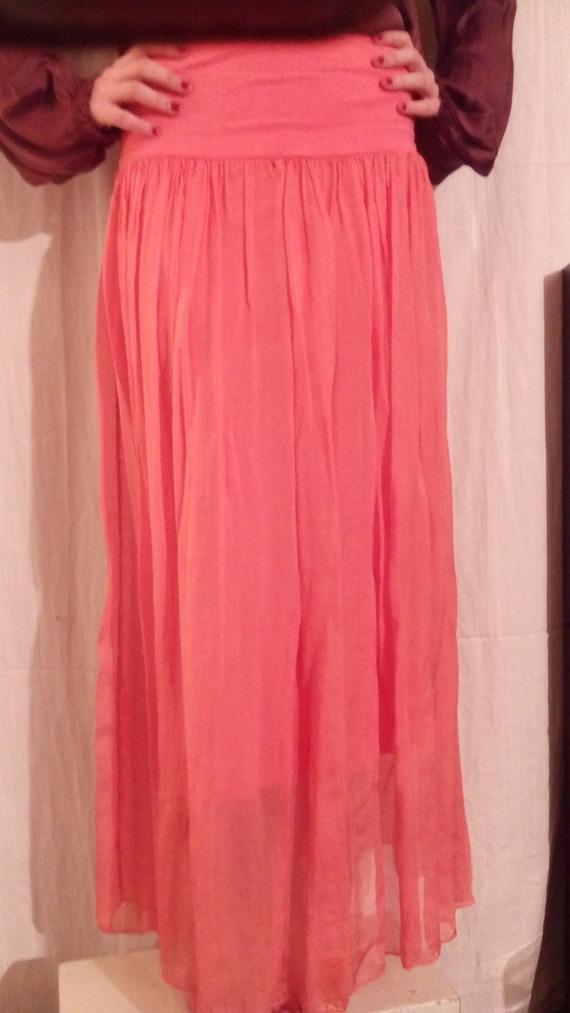 Jupe longue,soie très douce,trois couleurs,élastiqué à la taille,jupe femme,vêtements