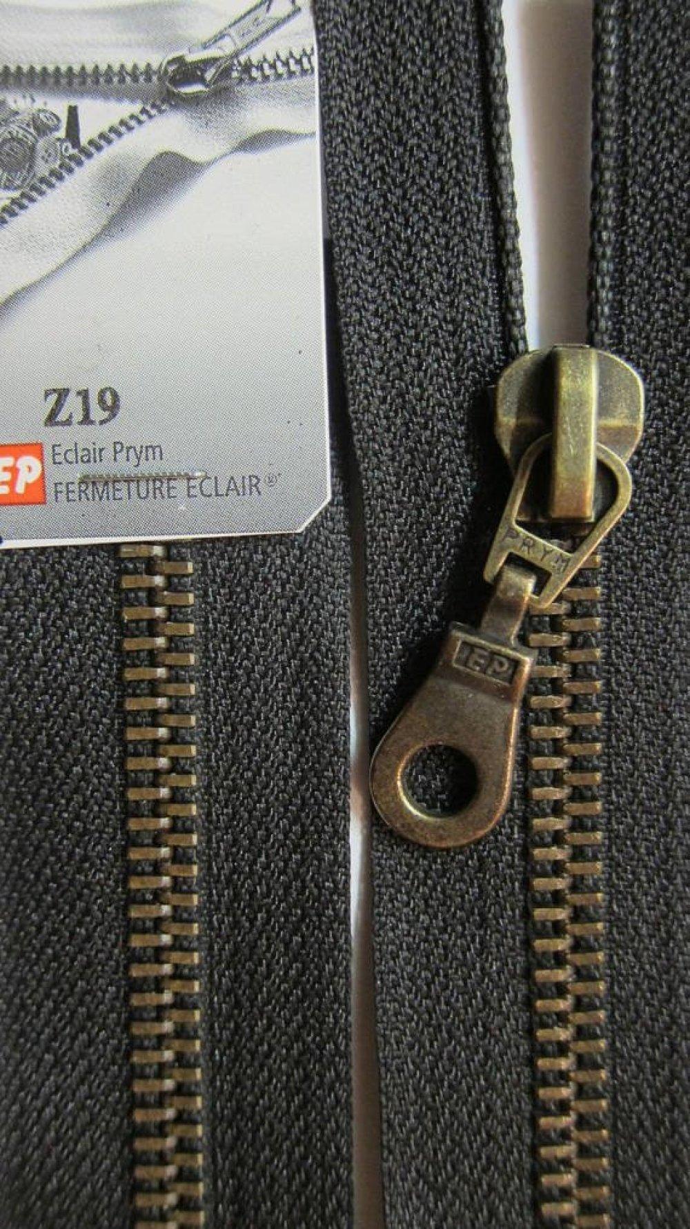 Fermeture Eclair 65 cm noir laiton séparable  Prym Z19