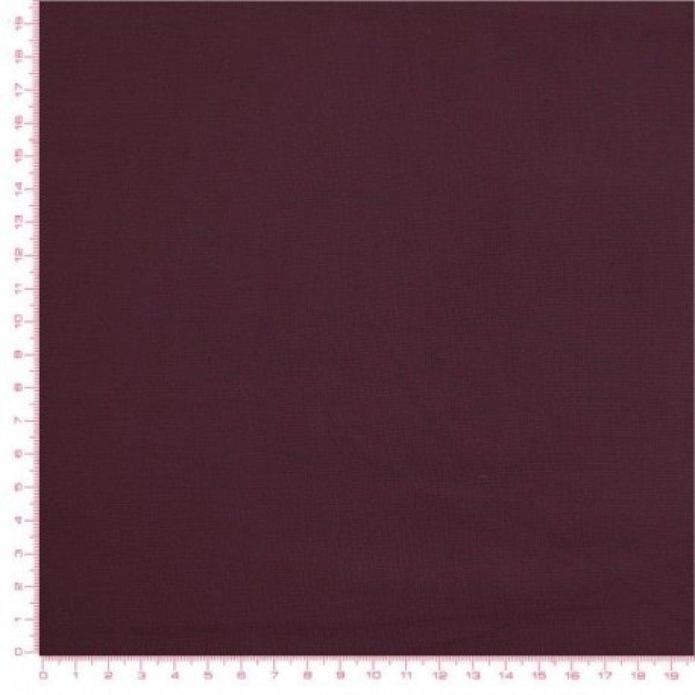 Tissu PRUNE uni, Prune coton, vendu par 10 cm