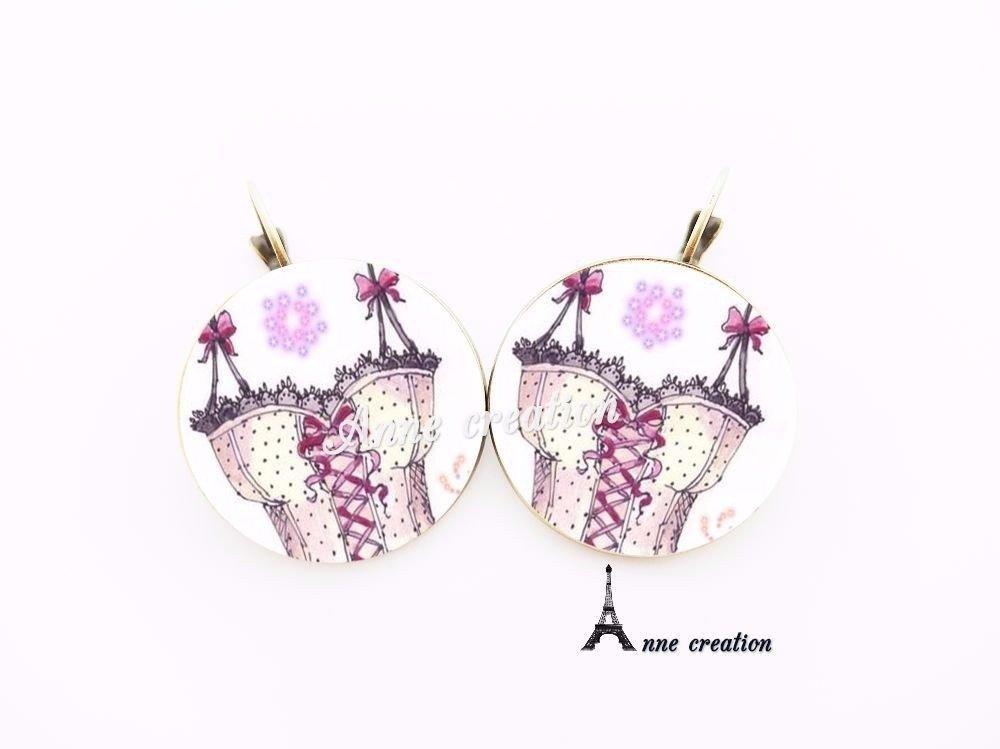 bague corset blanc rose rétro petits noeuds