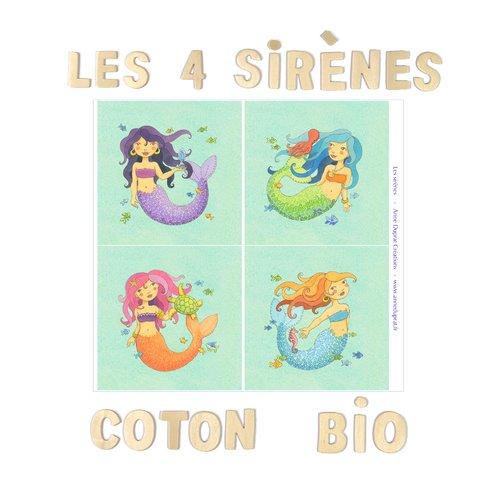 Coupons sirènes en coton biologique