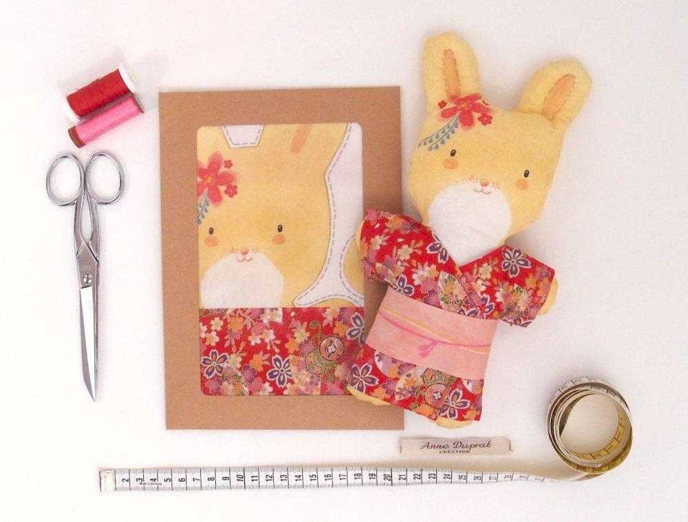 Kit DIY couture poupée aquarelle Suzie