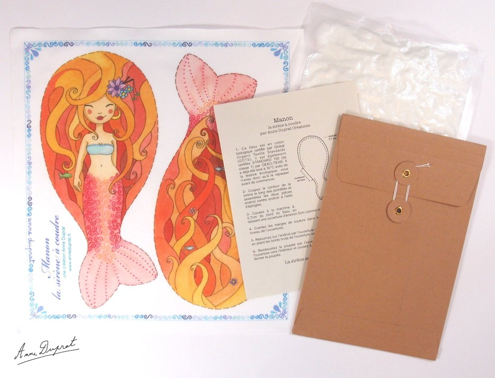 Kit DIY de couture, petite sirène Manon