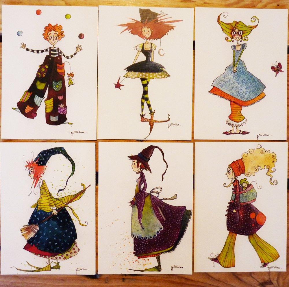 100 cartes postales à 15€ frais de port compris.