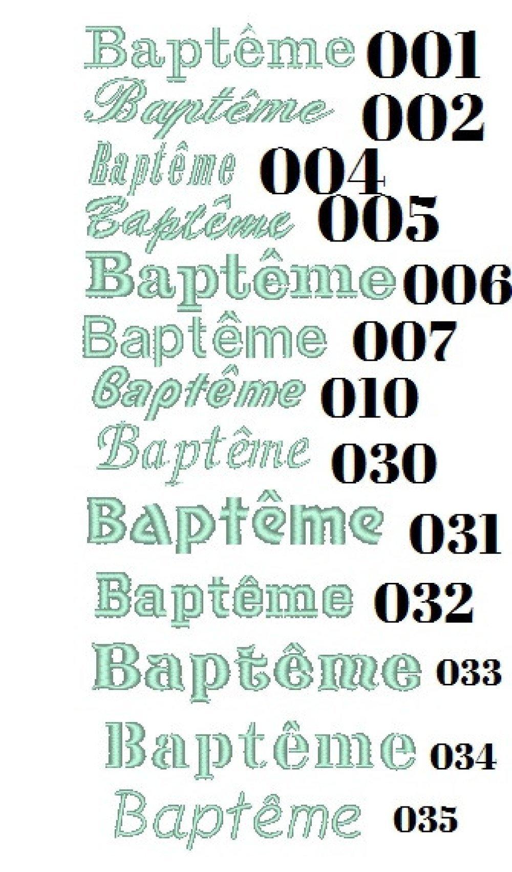 Echarpe de baptême personnalisée frais de port gratuits