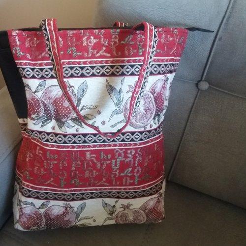 Sac arménien artisanale, sac fourre-tout, sac ethnique, sac à main