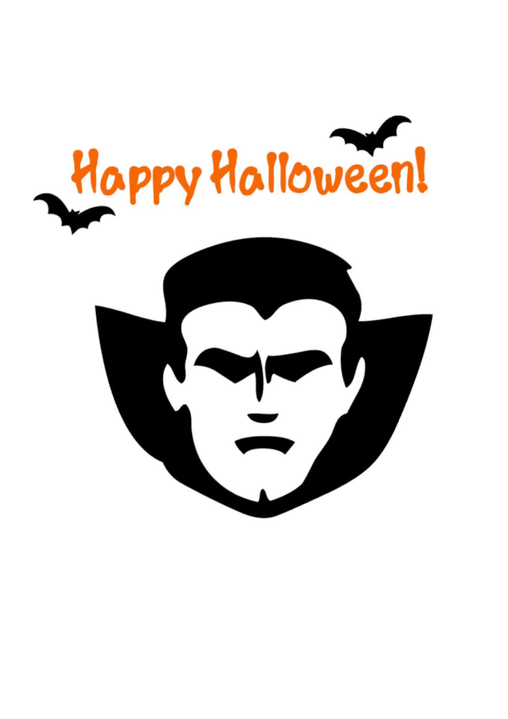 Thermocollant personnalisable pour Halloween: Dracula et chauves-souris